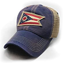 State Legacy Revival Ohio Flag Patch Trucker Hat, Navy