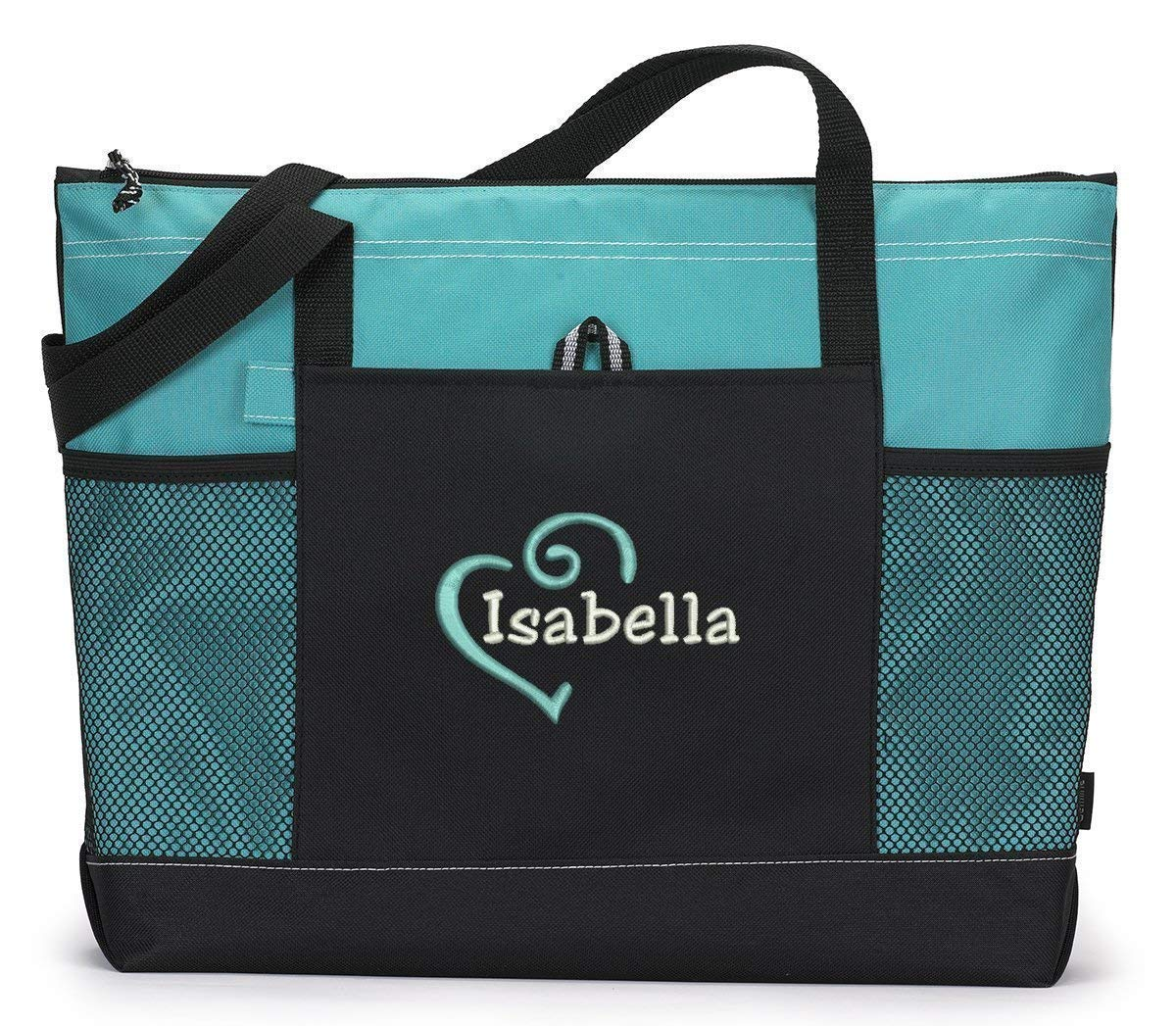 Personalized Heart Tote Bag Mesh with Max 63% OFF Pockets Ranking TOP2