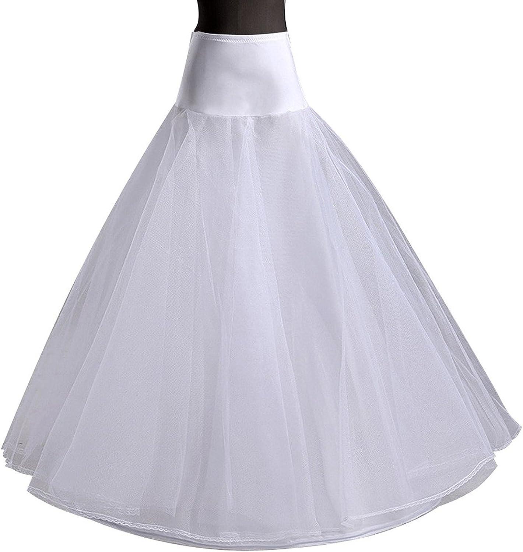 Edith qi Jupon de Robe de c/ér/émonie pour Femmes Crinoline Petticoat,Jupons 3//4//6 Anneau pour la Robe de mari/ée de Mariage,Jupon de Jupon r/églable Crinoline,Taille Unique,S-XXL