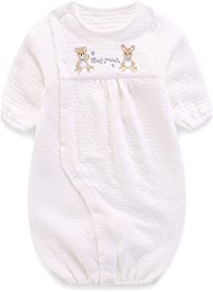 Boo.Kabee ベビー服 新生児 ツーウェイオール カバーオール エアニット無地 0~6ヶ月 出産祝い BKB802B
