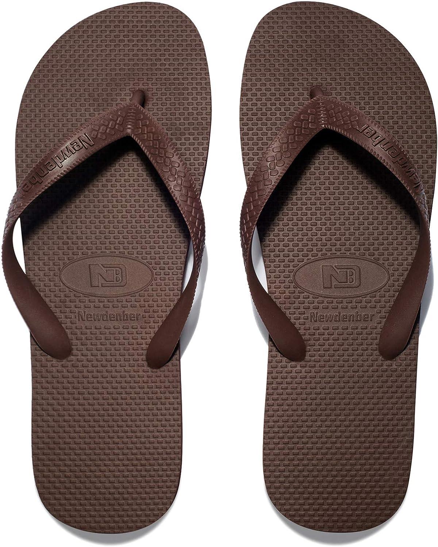 NewDenBer NDB Women's Classical Comfortable EVA Rubber Sandal Flip Flop (Women 5.5 M US, Brown)