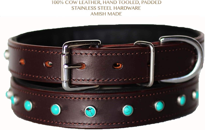 Rhinestone Dog Puppy Collar Crystal Cow Leather Western 6041