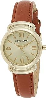 ساعة جلدية بلون بني عسلي للنساء من ان كلاين AK-3088CHHY