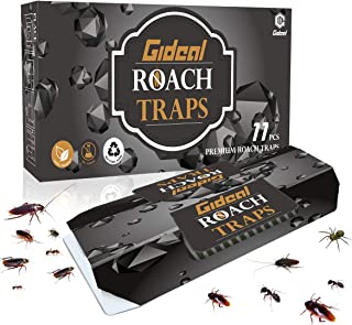 Gideal 11 Pack Cockroach Traps with Bait, Sticky Paper Premium Glue Trap | Eco-Friendly | Spiders Ants Roach Killer