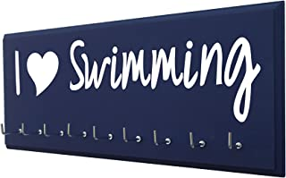 RunningontheWall Swimming Medal Holder, Swimming Gifts...