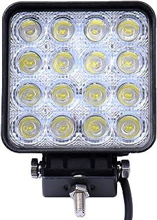 QIjinlook LED Zusatzscheinwerfer 7 Zoll LED 400W Arbeitsscheinwerfer 16000LM 6000K IP67 Wasserdicht Flutlichtstrahler Auto Offroad mit 80 LEDs Zusatzscheinwerfer Bar Car LED Work Light