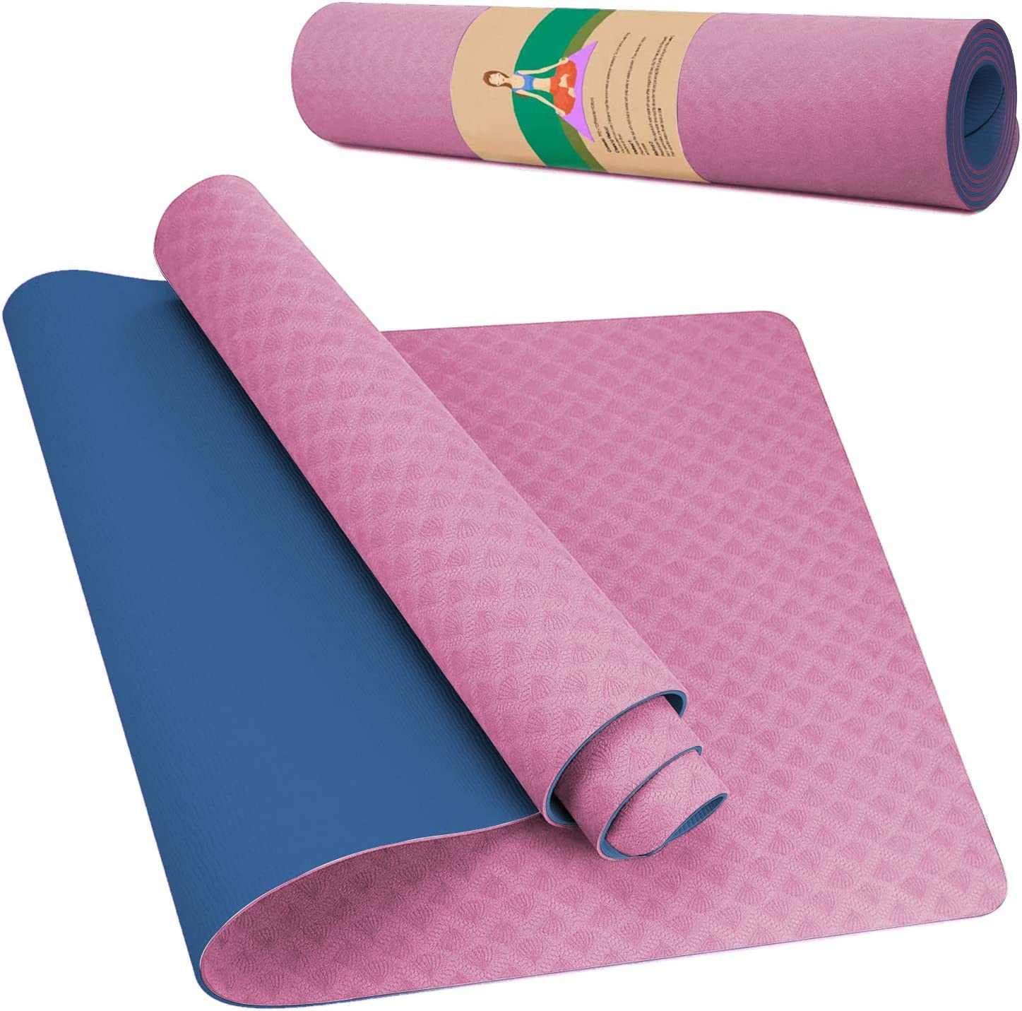 DREAM Quality inspection HORSE Yoga Mats Non-Slip Exercise 6mm safety 4-Inch 1 Extra Mat