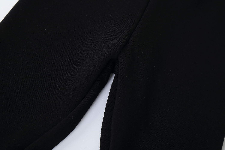 IRELIA 2 Pack Girls 100/% Cotton Fleece Lined Warm Leggings for Winter