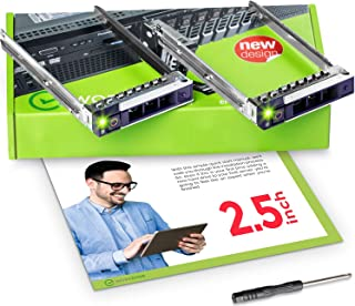 WorkDone 2-Pack 2.5 inch Hard Drive Caddy Compatible for Dell PowerEdge Servers - 14th Gen R340 R440 R540 R640 R740 R740xd R840 R940 R6415 R7415 R7425 - SSD SAS SATA NVMe Tray - Setup Manual