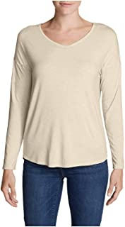 844e4ff3aa6a Eddie Bauer Women's Celestial Ultrasoft Long-Sleeve V-Neck T-Shirt - Solid