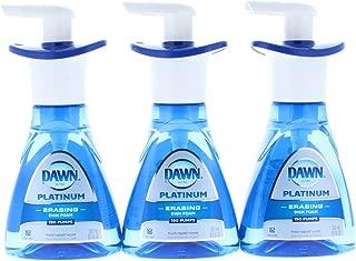 3 Pk. Dawn Ultra Platinum Foam Dishwashing Fresh Rapids Scent 10.1 fl oz 190 Pumps (30.3 Fl Oz 570 Pumps Total)