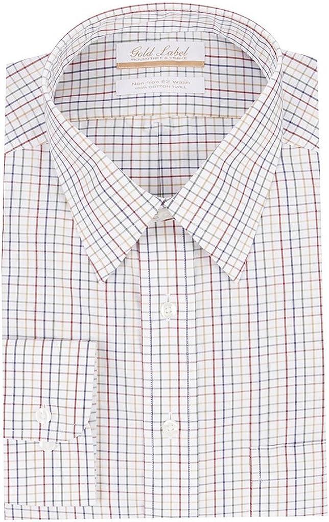 Gold Label Roundtree & Yorke Non-Iron Regular Big Tall Point Collar Checks Dress Shirt S75DG163