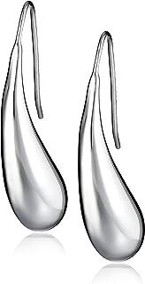 Amazon Collection Sterling Silver Teardrop Earrings