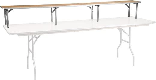 "✅Flash Furniture 96"" x 12"" x 12"" Birchwood Bar Top Riser with Silver Legs #Tools & Home Improvement Hardware"