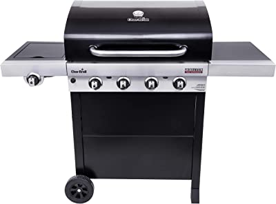 Char-Broil 463280219 Performance TRU-Infrared 4-Burner Cart Style Gas Grill, Black