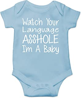 CBTwear Watch Your Language I'm A Baby Funny Romper Cute Novelty Infant One-Piece Baby Bodysuit