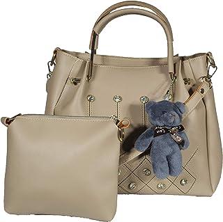 SaleBox PU Leather Handbag for Women's/Handbag for Girls/Shoulder leather handbags for girls stylish latest Bag Pack of Tw...