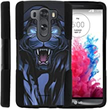 TurtleArmor | Compatible with LG V10 Case | LG G4 Pro Case [Gel Max] Hybrid Dual Layer Case Impact Shock Silicone Cover Hard Kickstand Shell Animal - Fierce Panther