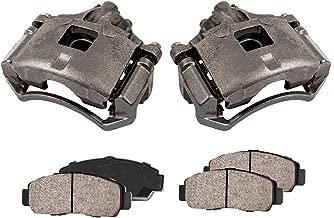 CCK11374 [2] FRONT Premium Loaded OE Caliper Assembly Set + Quiet Low Dust Ceramic Brake Pads