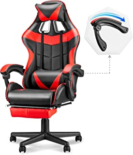 Soontrans Ergonomic Gaming Chair,High Back Computer Gaming Chair,Video Gaming Chair with Height and Backrest Recline Adjus...