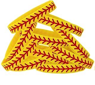 SayitBands 15 Softball Design Wristband Silicone Bracelet