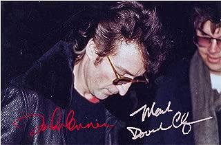 Engravia Digital John Lennon & Mark Chapman 8 December 1980 Reproduction Autograph Poster Photo A4 Print(Unframed)