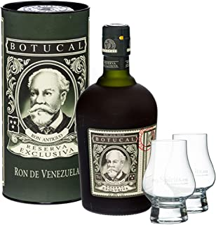 Botucal Reserva Exclusiva Rum in Geschenkdose  2 myspirits Nosing Gläser