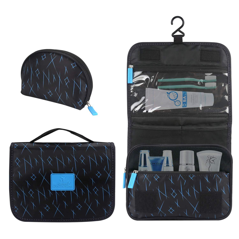 2 件化妆包多功能悬挂化妆袋便携式收纳袋化妆袋化妆袋袋袋大容量防水旅行袋男女通用