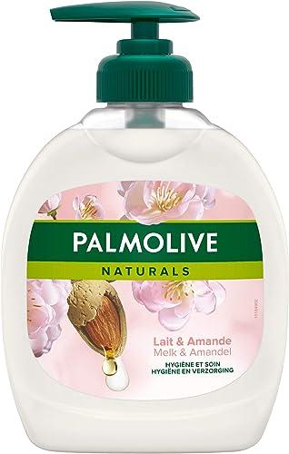 PALMOLIVE - Savon Liquide Mains Soin Délicat Amande & Lait - Formule Douce Sans Savon - Subtilement Parfumé - Distrib...