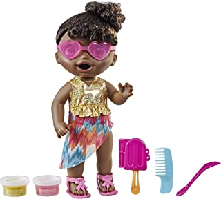 Baby Alive Sunshine Snacks Doll, Eats and Poops, Summer-Themed Waterplay Baby Doll, Ice Pop Mold, Toy for Kids Ages 3 and ...