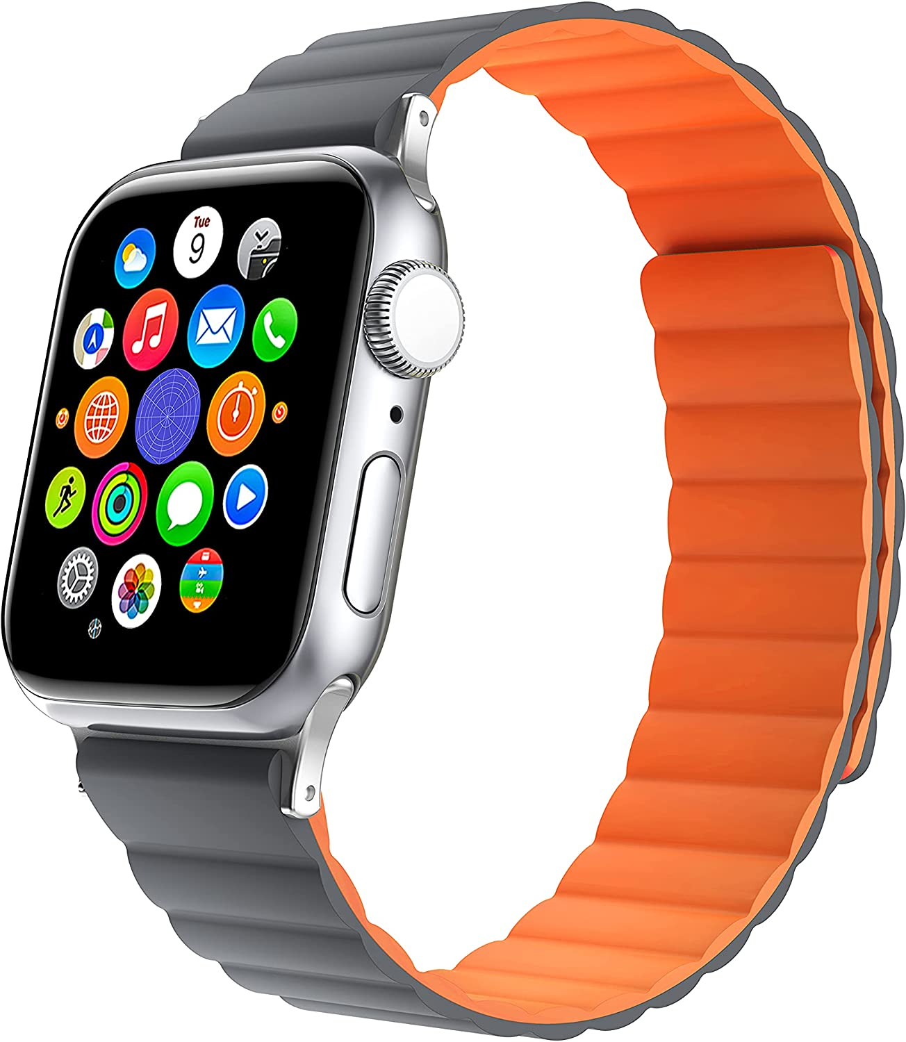 KAHHA Apple Watch Magnetic Bands(Upgrade the magnet) Compatible with iWatch Series SE 6 5 4 3 2 1 38mm 40mm 42mm 44mm Silicone Strong Magnetic Adjustable Smartwatch Straps for Women and Men…