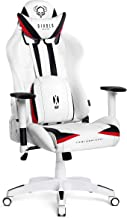 Diablo X-Ray Gaming Chair Office Desk Chair 2D Armrests Ergonomic Design HQ Synthetic Leather Perforation Rocking Function Loadable Up To 200 kg (white-black, XL)
