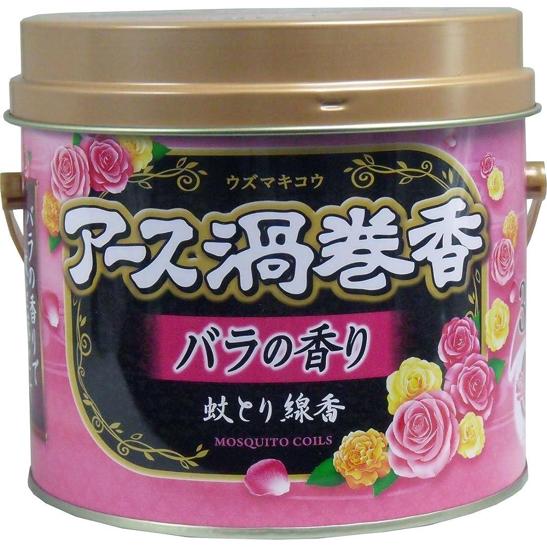 アース渦巻香 蚊とり線香 バラの香り 30巻