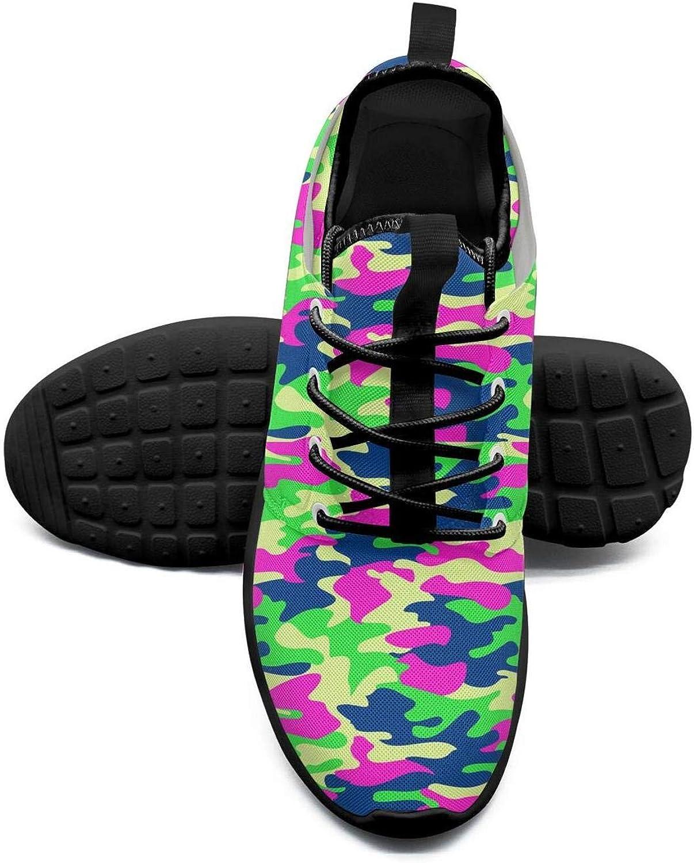 Gjsonmv Jungle Pink Digital camo mesh Lightweight shoes Women Comfortable Sports Driving Sneakers shoes