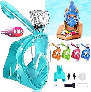 comprar comparacion HINATAA Máscara de Buceo para Niños, 180 °Máscara de Snorkel de Cara Completa Infantil, Anti-vaho Anti-Fuga Máscara de Gaf...