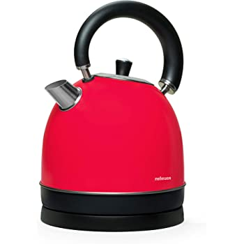 Mellerware Spring! Bollitore elettrico tipo kettle, temperatura di funzionamento: 100°C, capacità di 1,80 litri, indicatore del livello dell'acqua, design elegante, in acciaio Inox