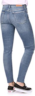 Jeans Mid Rise Skinny Ankle W Vaquero