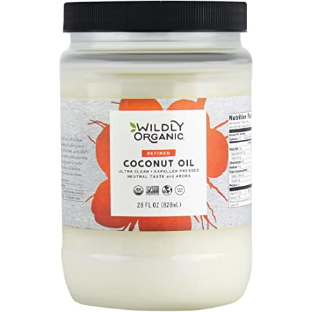 Wildly Organic Refined Coconut Oil - Organic Coconut Oil - Coconut Oil Organic - Pure Coconut Oil - Refined Coconut Oil - Coconut Oil Refined - Refined Coconut Oil For Cooking - 28 FL OZ