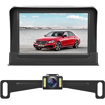 DohonesBest Backup Camera Single Power for Car//RV//Pickup//Truck Easy Installation 4.3 Monitor Driving//Reversing High-Speed Observation System Parking Asistance System