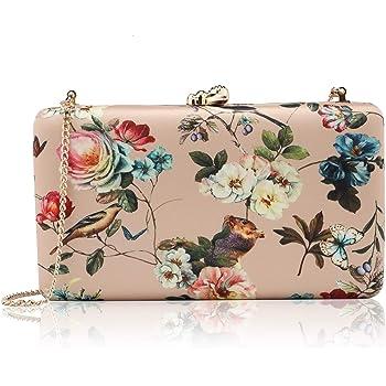 two the nines Flower Clutch for Women, Evening Bag Floral Print Clutch Bag  Wedding Bride Clutch Purse Handbags, Gold: Handbags: Amazon.com