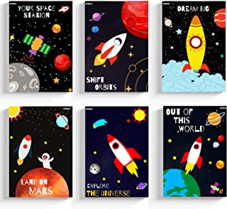 Ekdali Kids Paper Cute Inspirational Playroom Bedroom Nursery Room Wall Art Decoration Outer Space Posters-Decor for Boys ...