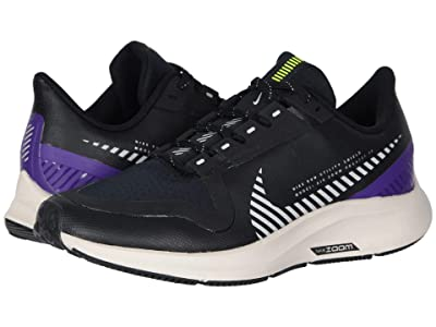 Nike Kids Air Zoom Pegasus 36 Shield (Little Kid/Big Kid) (Black/Silver/Desert Sand/Voltage Purple) Kids Shoes