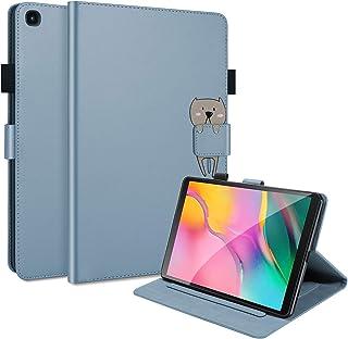 C/N DodoBuy - Funda para tablet Amazon Fire HD 10, diseño de animales de dibujos animados con tapa magnética, funda inteli...
