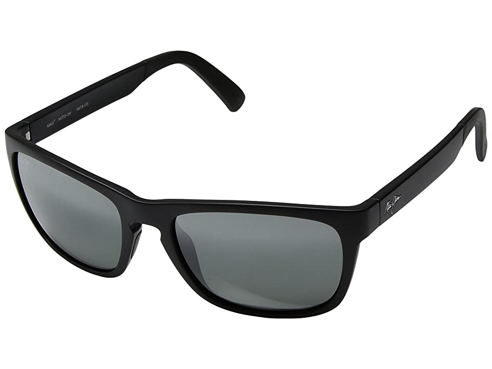 Maui Jim South Swell (Matte Black/Neutral Grey) Athletic Performance Sport Sunglasses