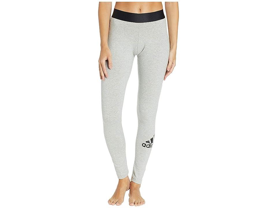 adidas Must Have Tights (Medium Grey Heather/Black) Women
