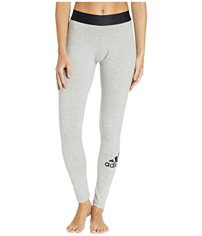 adidas Must Have Tights (Medium Grey Heather/Black) Women