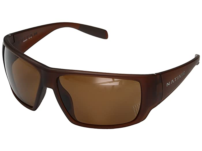 Native Eyewear Sightcaster (Matte Brown Crystal) Sport Sunglasses
