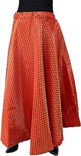 Matelco Women's Brocade Skirt (Free Size)