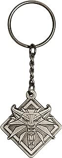 The Witcher 3 White Wolf Medallion Metal Key Chain, Metallic, One Size