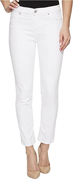 Tally Mid-Rise Skinny Crop in Optical White